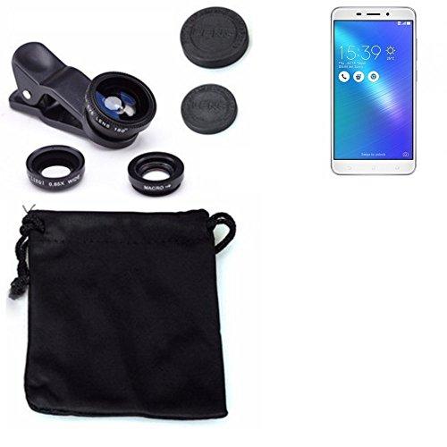 3in1 Asus ZenFone 3 Laser Lenti FishEye (180°) Grandangolo (0.67x) Macro Obiettivi Smartphone Cellulare Obiettivi Smartphone- K-S-Trade