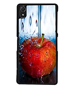PrintVisa An Apple A Day Keeps Doc Away High Gloss Designer Back Case Cover for Sony Xperia Z3 :: Sony Xperia Z3 Dual D6603 :: Sony Xperia Z3 D6633