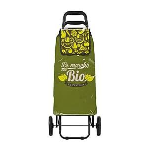 Chariot de courses Derrière La Porte C'est Bio - Vert