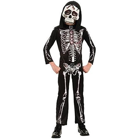 Rubbies - Disfraz de halloween esqueleto para niño, talla L (única) (RU884784LG)