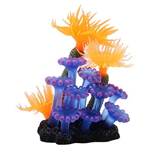 Smandy Wasserpflanzen Aquarium künstliche Aquarium Künstliche Koralle Verzierung Großen Leuchtende Silikon Pflanzen Aquarium Aquariumpflanze Fisch Tank Dekoration (Fisch-aquarium Pflanzen)