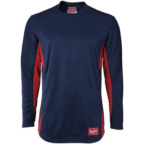 Rawlings Jugend Einbaum Fleece Pullover, Herren, Navy|Scarlet (Pullover Softball Kinder)