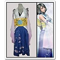 FINAL FANTASY X Yuna Cosplay Costume,Taglia XXL: altezza 170 cm- 180 cm(Pleae scrivici la tua (Costumi Final Fantasy Cosplay)