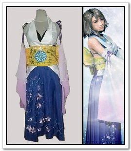 Für Cosplay Kostüm Verkauf - Sunkee Final Fantasy 10 Cosplay Yuna Kleid Kostüm, Größe XXL ( Alle Größe Sind Wie Beschreibung Gesagt, überprüfen Sie Bitte Die Größentabelle Vor Der Bestellung )