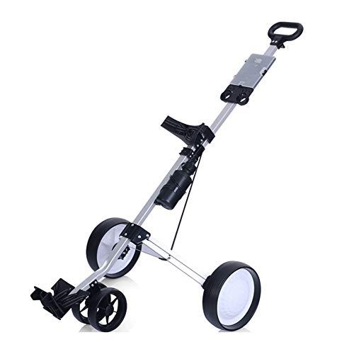 CAR SHUN Golfwagen, Golf Cart Faltbarer 3-Rad-Pull-Pull-Cart Golfwagen DREI-Rad-Golfwagen (Räder Für Golf Carts)