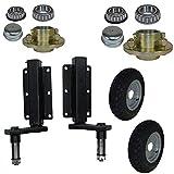 350kg Anhänger Suspension Unit (Paar) & Cast Radnaben & 3,50-8 Räder 4