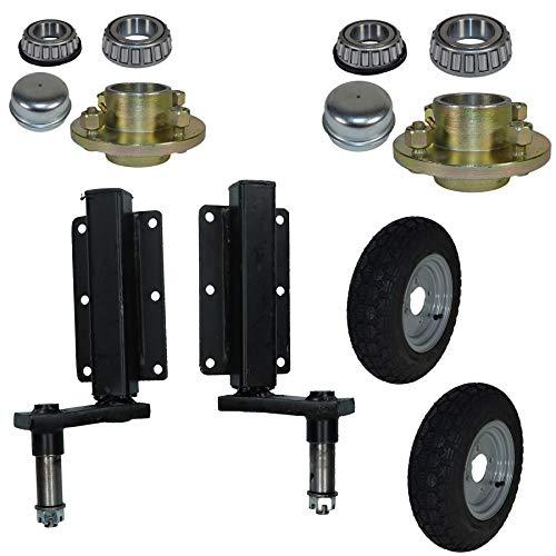 AB Tools 350kg Anhänger Suspension Unit (Paar) & Cast Radnaben & 3,50-8 Räder 4