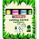 Edding Textmarker Highlighter 24 sortiert VE=4 Keilspitze