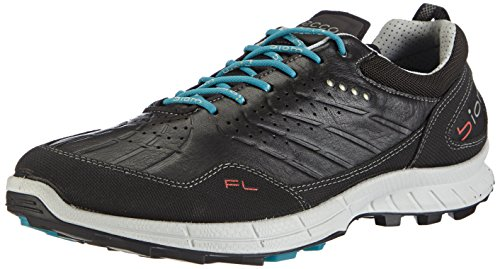 ECCO BIOM TRAIL FL Herren Outdoor Fitnessschuhe Schwarz (BLACK/BLACK/PAGODABLUE 58932)