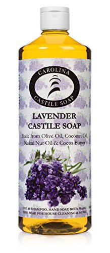 Lavender Castile Soap | Certified Organic | Kukui Nut Oil & Fair Trade Cocoa Butter - 946 ml