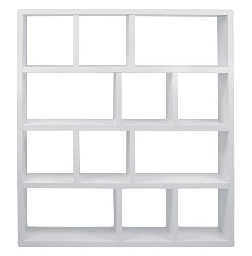 Aprodz Roman 4 Stage Bookshelf (White)