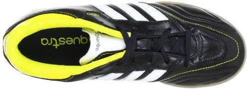 adidas Performance 11Questra IN J Q23850 Jungen Fußballschuhe Schwarz (BLACK 1 / RUNNING WHITE FTW / VIVID YELLOW S13)
