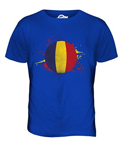 CandyMix Rumänien Fußball Herren T Shirt Königsblau