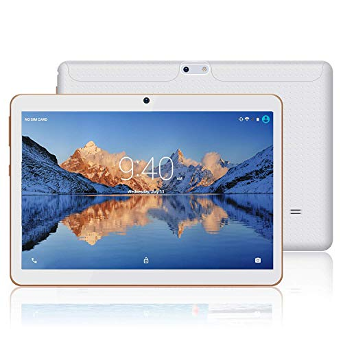 Tablet 10 Zoll HD YOTOPT - Android 7.0, Quad Core, 2GB RAM, 16GB eMMC, 3G, WiFi, Dual-SIM WiFi/Bluetooth/GPS (Weiß)