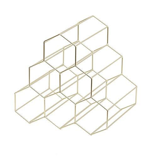 OSLAMP Weinregal, freistehend, Tischplatte, Weinregal, Metall, geometrischer Stil, stapelbar,...