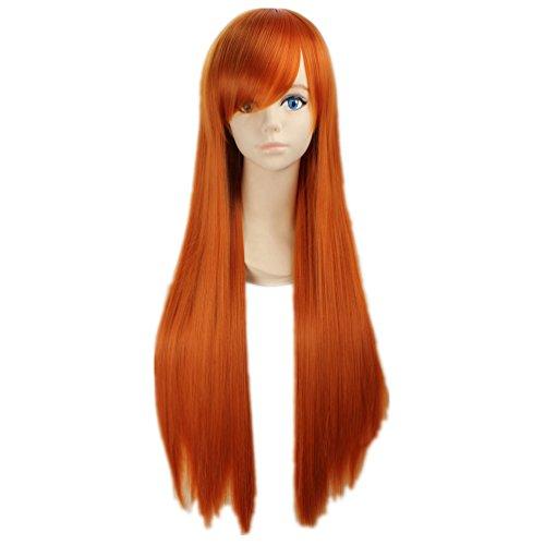 COSPLAZA Cosplay Kostueme Peruecke Bleach Orihime Inoue gerade lang Orange Anime Haar (Orange Perücke Kostüm)