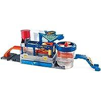 Hot Wheels FTB66 City Mega Autowaschanlage, Car Wash Waschstation Spielset mit Wasserbecken inkl. 1 Spielzeugauto mit Farbwechseleffekt, ab 4 Jahren