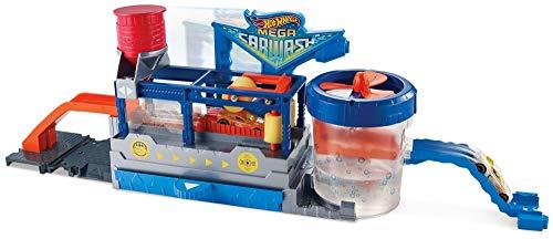 Hot Wheels Supertúnel de lavado, pista de coches de juguete (Mattel FTB66)