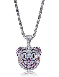 MoCa Jewelry Pendentif et Collier Unisexe avec chaîne en Acier Inoxydable  61 cm pour Homme et f01c4d4206b8