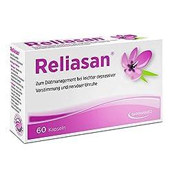 RELIASAN Natürlicher Stimmungsaufheller I Hochdosiert aus Safran I Selbsthilfe mit der Kraft der Natur I Vegan & Hergestellt in Deutschland (60 Kapseln)