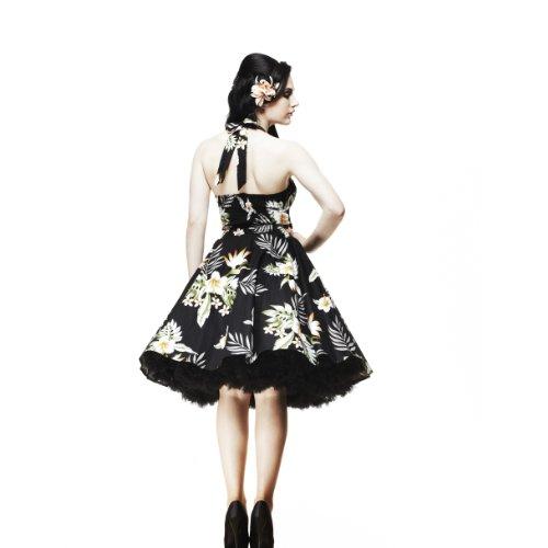 Ligne bunny robe robe de ruban 50 's (noir) Noir - Noir