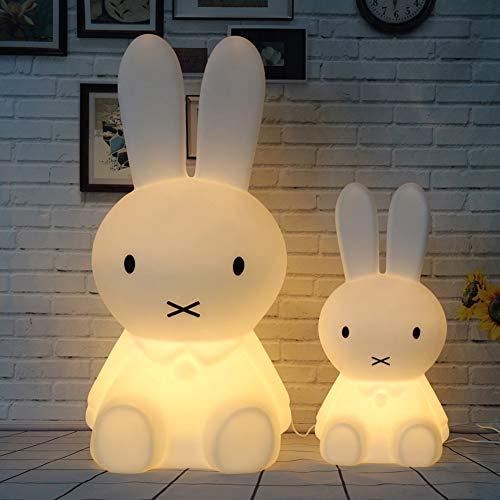 USB oso marrón Miffy conejo LED Luz noche Mesita