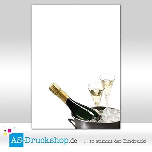 Designpapier Feiern - Party - Sektflasche / 50 Blatt/DIN A5 / 90 g-Offsetpapier
