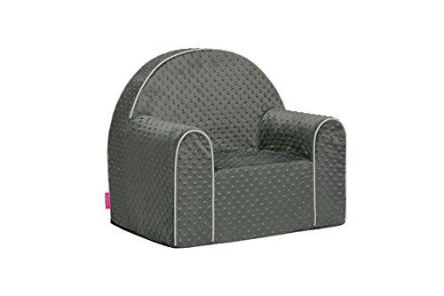Midi Dots Kindersessel Babysessel Baby Sessel Sofa Kinderstuhl Stuhl Schaumstoff Umweltfreundlich (Grau)