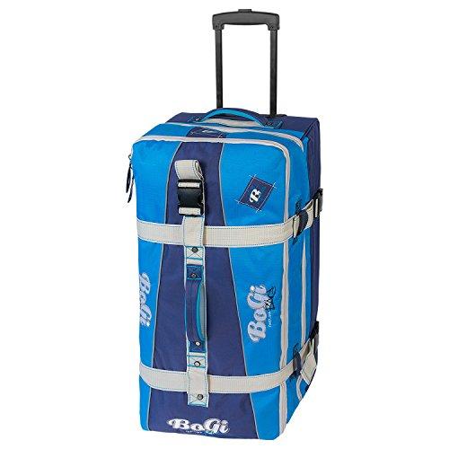 BoGi Bag Reistrolley 110 Liter Reisetasche Trolley Rollkoffer - Dunkelblau / Blau
