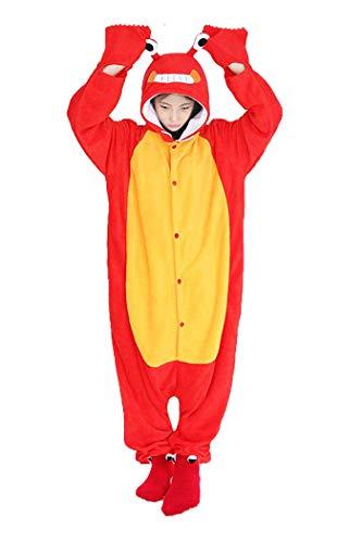 Kostüm Krabbe - dressfan Unisex Tier Cosplay Kostüm Krabbe Pyjamas Erwachsene Kinder
