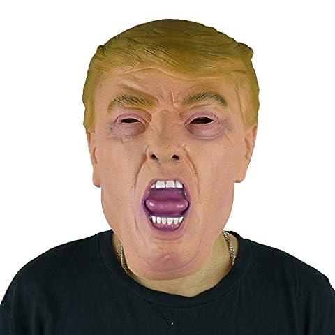 Larpgears Masque en latex pour fête Donald Trump