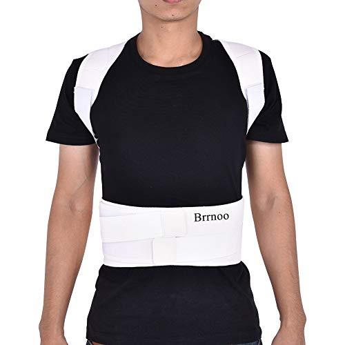 Haltungskorrektur Geradehalter Ultradünn Atmungsaktiv Superelastisch Rückenbandage zur Schulter Rücken Taille für Männer und Frauen (Taillenumfang für 80cm-120cm)(S-Weiß) - Taille Stehen