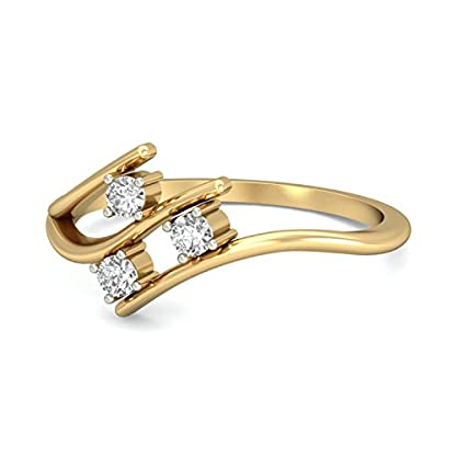 PC Jeweller The Yamila 18KT Yellow Gold & Diamond Rings