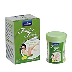 VI- JOHN Feather Touch Hair Removal Cream Dry Skin - Lime- Pack of 4