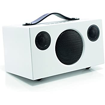 "Audio Pro ""Addon T3"" Bluetooth Stereo Wireless Speaker with built in subwoofer Compatible with Android, Apple & Windows Devices - White"