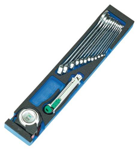 Heyco/Heytec 50807694500 Montage-Werkzeugkasten, Stahlblech 5-fach aufklappbar inklusive 96-teiligem Werkzeugsortiment, 5 Modulen -