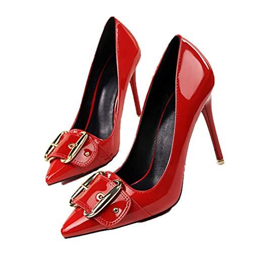 rauen Zeigen Zehen-Gerichts-Schuhe Beleg auf den grundlegenden Schuhen der Stilett-Partei-Hochzeits-Pumpen ()