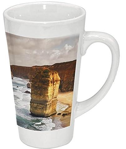 Latte Macchiato Becher Kaffeebecher aus Keramik mit Fotodruck - 500ml - Motiv: Australien - 12 Apostel  002