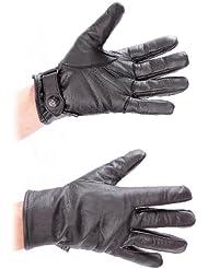 Mil-Tec Exterior Ejército alemán BW Guantes de piel negro - Negro, US T. 9