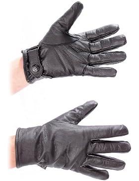 BW Lederfingerhandschuhe gef. schwarz
