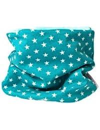 Enfants écharpe ronde écharpe pour enfant étoiles couleur pétrole (1-8 Ans)