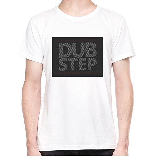 dub-step-logo-t-shirt-pour-homme-blanc-m