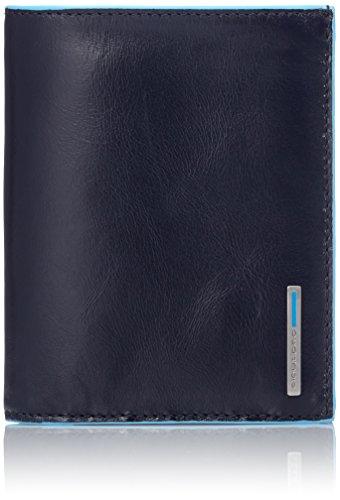 Piquadro Blue Square Hochformatbörse mit Hartgeldfach, 12, 5 cm Blau