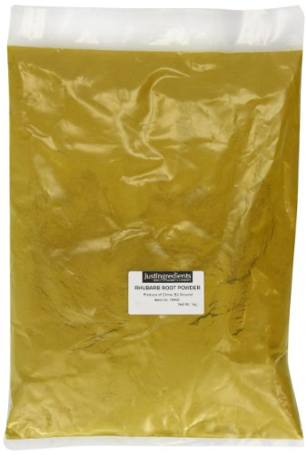 JustIngredients Rhabarberwurzel Pulver, Rhubarb Root Powder, 1er Pack (1 x 1 kg) -