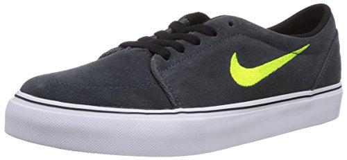 Nike Satire (Gs), Chaussures de skateboard garçon Noir (Anthracite/Volt-White-Black 032)