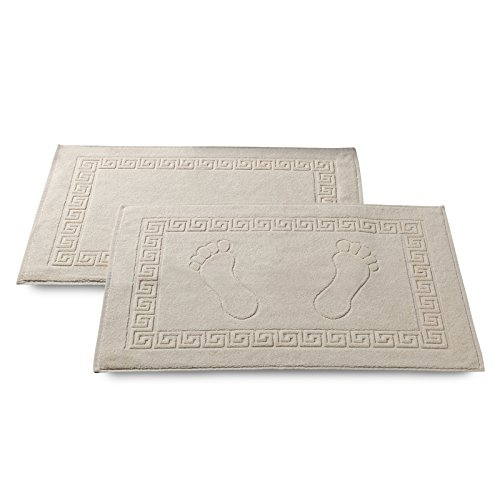 2er-Set Frottee Badvorleger 50x70 cm Creme (Badematte Creme)