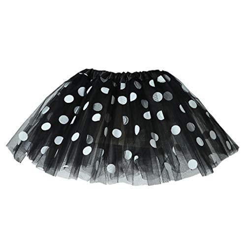 Briskorry Mädchen Mini Tüllröcke, Prinzessin Tanzender Rock Funkelnde Pailletten Ballet Tanzkleid Blasenrock für Dancewear Kostüm, Party Dress-up, Cosplay