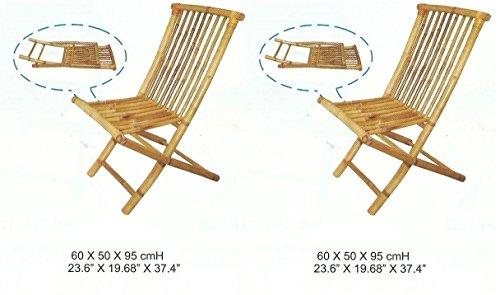 2Sillas de bambú, silla de jardín, silla plegable, silla de balcón,