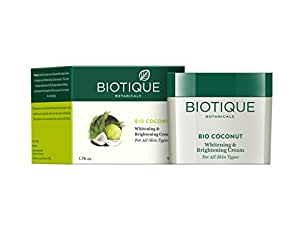 Biotique Bio Coconut Whitening And Brightening Cream, 50g