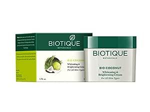 Biotique Bio Coconut Whitening and Brightening Cream for All Skin Types, 50g